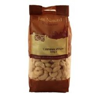 Just Natural Wholesome Whole Cashews 500g