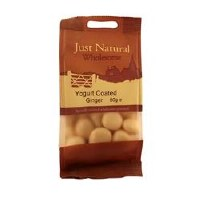 Just Natural Wholesome Yoghurt Coated Ginger 80g