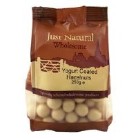 Just Natural Wholesome Yoghurt Coated Hazelnuts 250g
