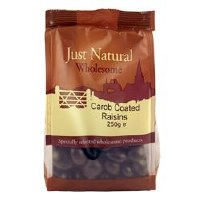 Just Natural Wholesome Carob Coated Raisins 250g