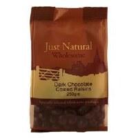 Just Natural Wholesome Dark Chocolate Coated Raisins 250g
