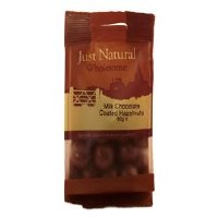 Just Natural Wholesome Milk Chocolate Coated Hazelnut 80g