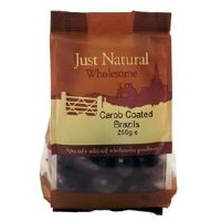 Just Natural Wholesome Carob Coated Brazil Nuts 250g
