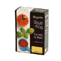 Just Wholefoods Org Vegan Tomato & Basil Soup 4 x 17g