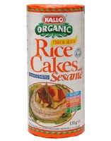 Kallo Rice Cakes With Sesame Salted 130g