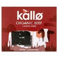 kallo foods Org Beef Stock Cubes Low Salt 51g