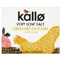 Kallo Org Chicken Stock Cubes L Salt 51g