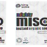 King Soba Org Miso Soup Tofu Ginger 60g