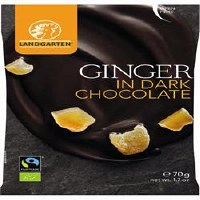 Landgarten Ginger in Dark Chocolate 70g