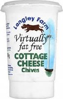 Longley Farm Longl Cott Cheese With Chives 1x250g