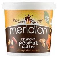 Meridian Crunchy Peanut Butter +salt 1000g