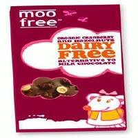 Moo Free Org D/F Choc with Cran & H/Nut 100g