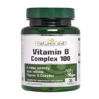 Natures Aid Vitamin B Complex 100mg TR 30 tablet