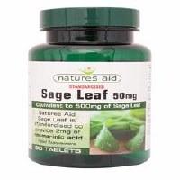Natures Aid Sage Leaf 500mg 90 tablet