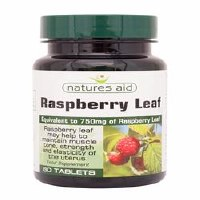 Natures Aid Raspberry Leaf 750mg 60 Tablets