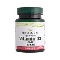 Natures Aid Vitamin D3 1000iu 90 tablet