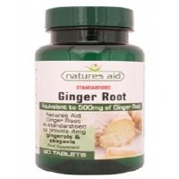 Natures Aid Ginger 500mg 90 Tablets