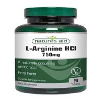 Natures Aid L-Arginine HCl 750mg 90 Tablets