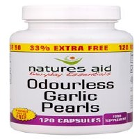 Natures Aid Promotional Packs Garlic Pearls 120 capsule