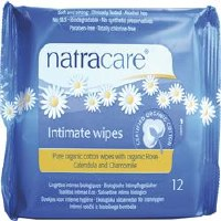 Natracare Org Cotton Intimate Wipes 12wipes