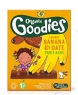 Organix Banana/Date Organic Fruit Bar 6 X 17g