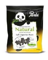 Panda Bear Shaped Licorice 125g