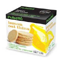 Pulsetta Foods Limited Lemon Oat Thins 150g