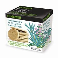 Pulsetta Foods Limited Rosemary & Thyme Oat Thins 150g