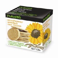 Pulsetta Foods Limited Sunflower Seeded Oat Thins 150g