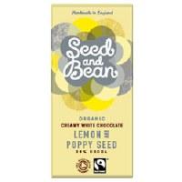 Seed & Bean Org White lemon & Poppy Bar 85g