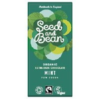 Seed & Bean Org Extra Dark Mint Bar 85g