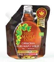 Shady Farm Organic Maple Syrup Pouch 125ml