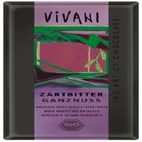 Vivani Dark Whole Hazelnuts Chocolate 100g