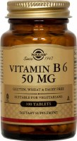 Solgar Vitamin B6 50 mg Tablets 100