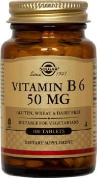 Solgar Vitamin B6 50 mg Tablets 100