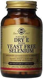 Solgar Vitamin E with Yeast Free Sele 100