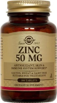 Solgar Zinc 50 mg Tablets 100
