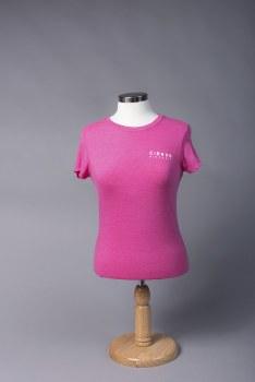 Ladies Plain Tee Pink S