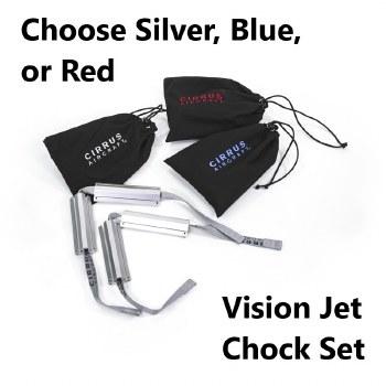 Jet Chock in Drawstring Bag