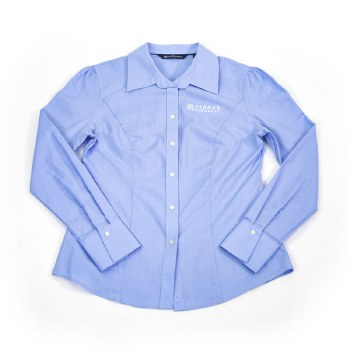 Ladies CB Dress Shirt Blue XS