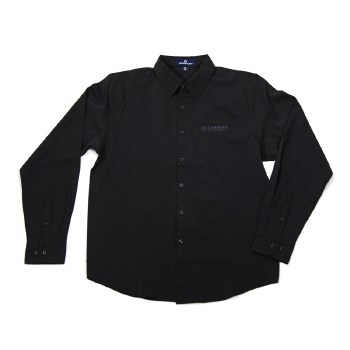 Mens Black Dress Shirt S
