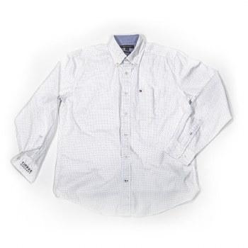 Mens Hilfiger Dot Shirt WH S