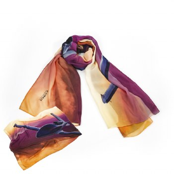 Robyn Hills Jet Picture Scarf
