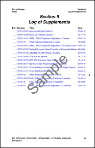 11934-002 Log of Supplements