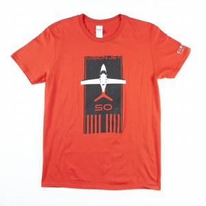 Adult Tee Jet Runway Red S