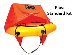 AeroCom 4P Raft w/Can StandKit