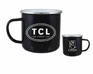 Enamel Camp Mug, Black
