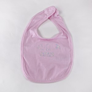 Jersey Baby Bib in Pink