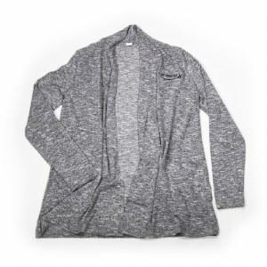 Ladies Cardi Wrap Grey XS