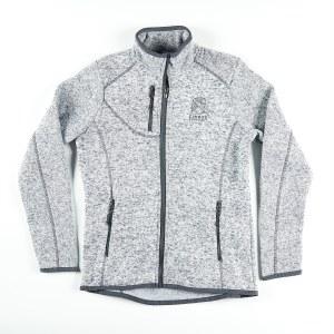 Ladies Sweater JKT Light Grey